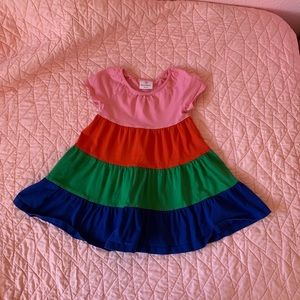 Hanna Andersson size 90 multi colored dress. 3T